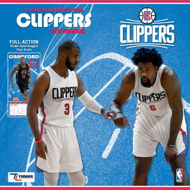 NBA クリッパーズ 2018 チーム ウォール カレンダー ターナー/Turner【セール】【1910価格変更】