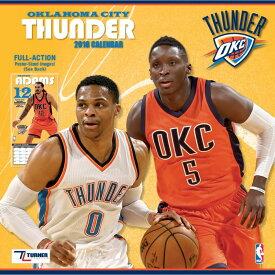 NBA サンダー 2018 チーム ウォール カレンダー ターナー/Turner【セール】【1910価格変更】