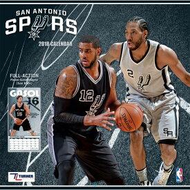 NBA スパーズ 2018 チーム ウォール カレンダー ターナー/Turner【セール】【1910価格変更】