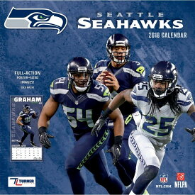 NFL シーホークス 2018 チーム ウォール カレンダー ターナー/Turner【セール】【1910価格変更】