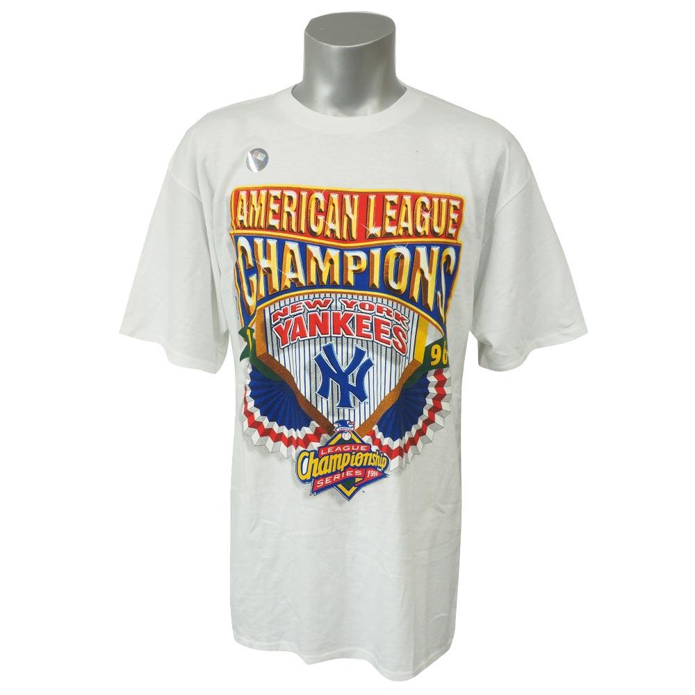 MLB ヤンキース 1996 アメリカン・リーグ チャンピオン Tシャツ スターター/Starter ホワイト レアアイテム
