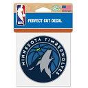 NBA ティンバーウルブズ ロゴ カラー ステッカー/シール ウィンクラフト/WinCraft
