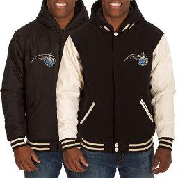 訂購的NBA魔術人可逆fleece四皮夾克JH設計/JH Design黑色