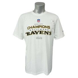 NFL レイブンズ 2012 AFC チャンピオン ロッカールーム Tシャツ ナイキ/Nike ホワイト レアアイテム【1911セール】