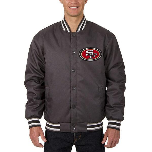 お取り寄せ NFL 49ers メンズ ポリツイル ジャケット JH デザイン/JH Design チャコール