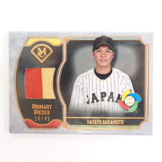 WBC武士日本坂本勇人2017運動衫卡#16/45頂端/Topps