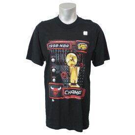 NBA Tシャツ ブルズ 1998 6タイム チャンピオンズ Pro Player ブラック レアアイテム【1910価格変更】【1911NBAt】