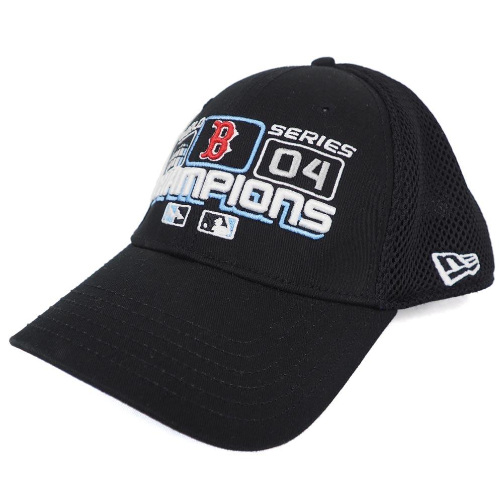 MLB レッドソックス 2004 ワールドシリーズ チャンピオン ロッカールーム キャップ/帽子 ニューエラ/New Era ブラック レアアイテム