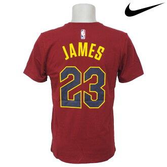 NBA Nike/耐吉騎士露華濃·詹姆斯姓名&號碼T恤組紅