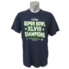 NFL シーホークス 第48回スーパーボウル チャンピオン Tシャツ 47ブランド/47Brand ネイビー レアアイテム【1910セール】