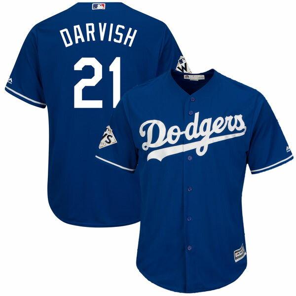 お取り寄せ MLB ドジャース ダルビッシュ有 2017 ワールドシリーズ進出記念 クールベース プレイヤー ユニフォーム マジェスティック/Majestic ロイヤル