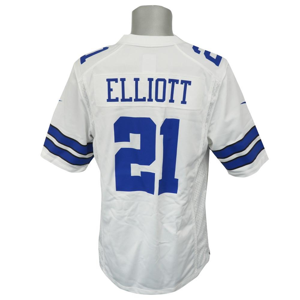 NFL カウボーイズ エゼキエル・エリオット ゲーム ユニフォーム/ユニホーム ナイキ/Nike ホワイト 990710725