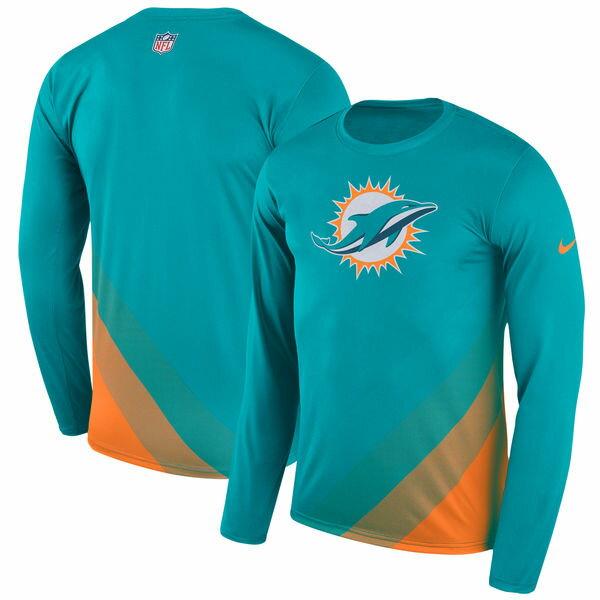 NFL ドルフィンズ サイドライン レジェンド プリズム パフォーマンス ロングスリーブ Tシャツ 長袖 ナイキ/Nike アクア