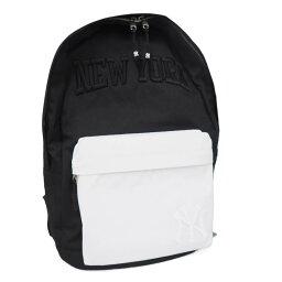 MLB揚基隊600D寬大的標識日包/帆布背包E凸輪/E-come黑色(白口袋)