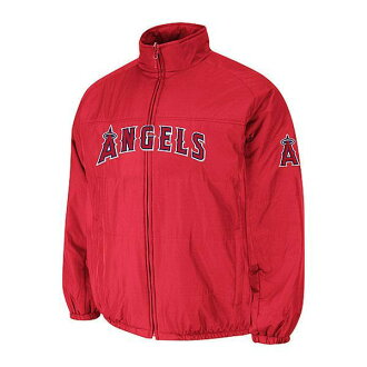 MLB Angels authentic double Kurai mate on field jacket majestic /Majestic red