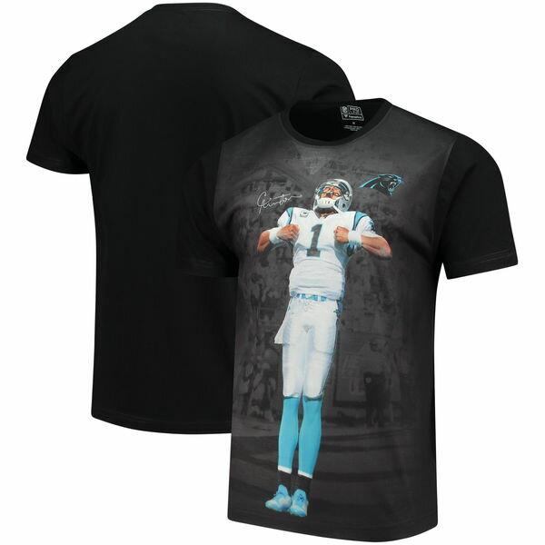 NFL パンサーズ キャム・ニュートン プレイヤー サブリメイテッド グラフィック Tシャツ