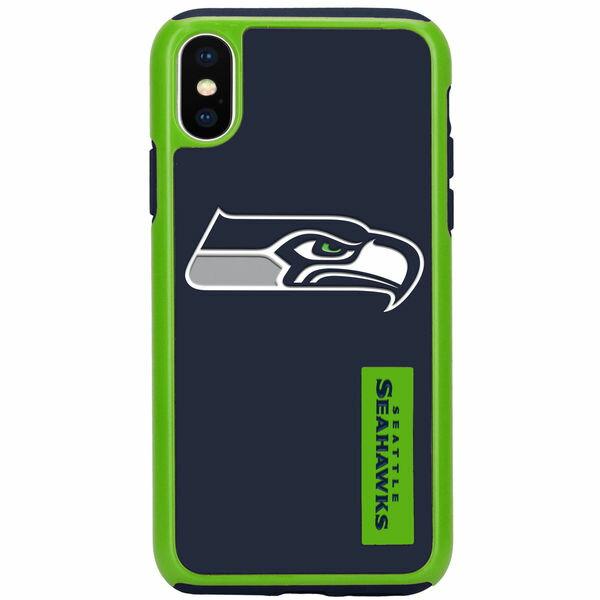 お取り寄せ NFL シーホークス iPhone X デュアル ハイブリッド ケース