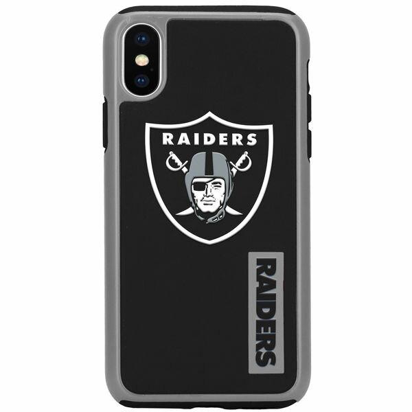 お取り寄せ NFL レイダース iPhone X デュアル ハイブリッド ケース
