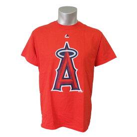 MLB エンゼルス オフィシャル ロゴ Tシャツ マジェスティック/Majestic レッド【1909セール】