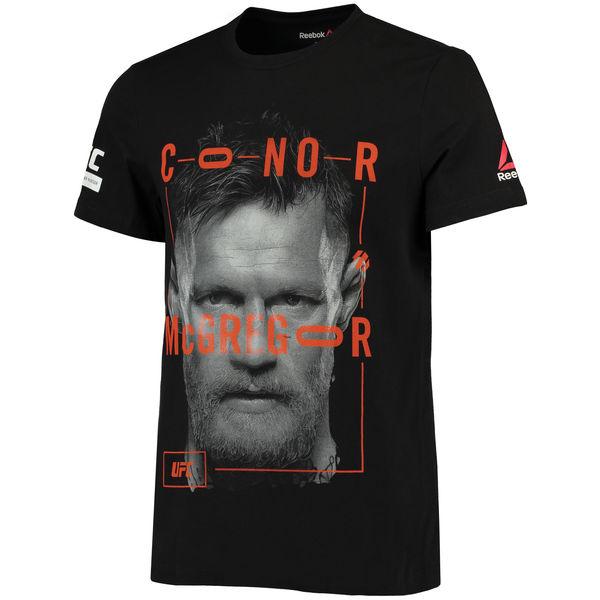 お取り寄せ UFC コナー・マクレガー UFC ファイター テクノロジー Tシャツ リーボック/Reebok ブラック