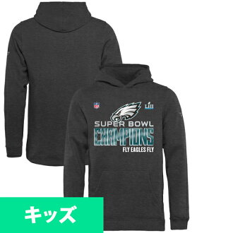Order NFL Eagles kids 52nd Super Bowl championship memory Trophy Collection Locker Room Hoodie Heather charcoal