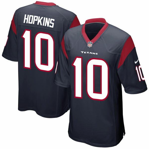お取り寄せ NFL テキサンズ ディーンダー・ホプキンズ ゲーム ユニフォーム/ユニホーム レプリカ ナイキ/Nike ネイビーブルー