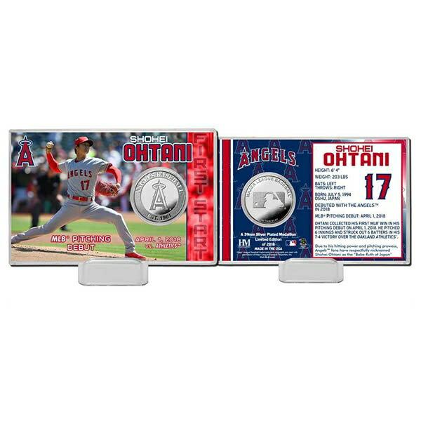 MLB エンゼルス 大谷翔平 初登板記念 シルバーコイン カード The Highland Mint
