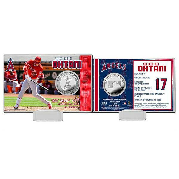 MLB エンゼルス 大谷翔平 初安打記念 シルバーコイン カード The Highland Mint