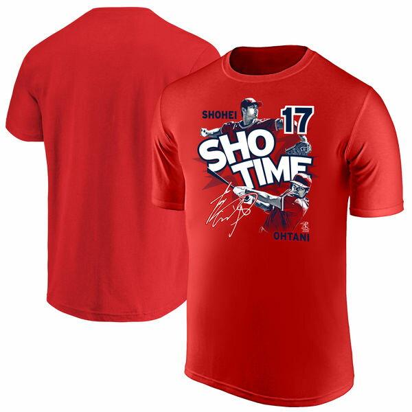 MLB エンゼルス 大谷翔平 Tシャツ 半袖 SHO TIME ショータイム レッド