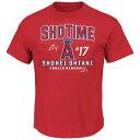 ご予約 MLB エンゼルス 大谷翔平 Tシャツ 半袖 SHOWTIME ショータイム マジェスティック/Majestic レッド