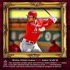 進入訂購的MLB天使大谷翔平第一次出場的比賽紀念紀念球棒球場的土