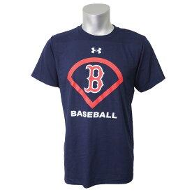 MLB レッドソックス Tシャツ 半袖 UA パフォーマンス アイコン アンダーアーマー/UNDER ARMOUR ネイビー【1910セール】【1112】