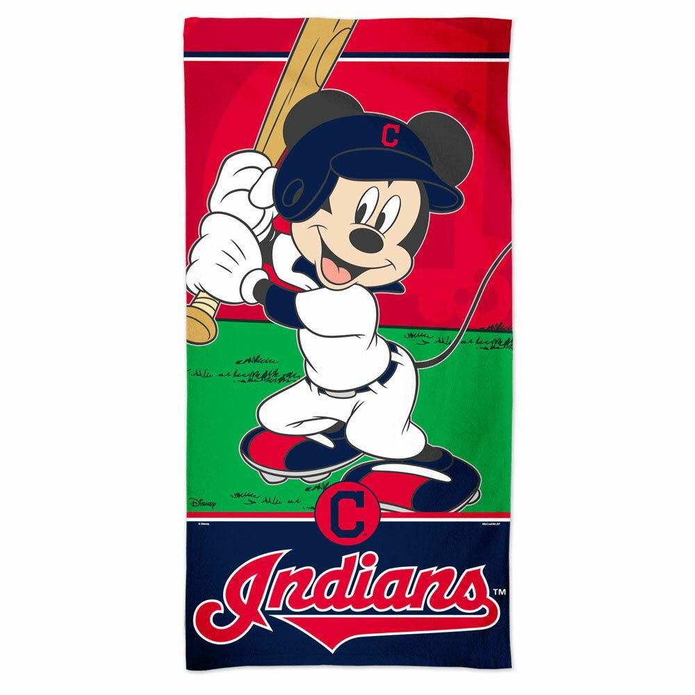 MLB インディアンス ミッキーマウス ビーチタオル マッカーシー/McArthur