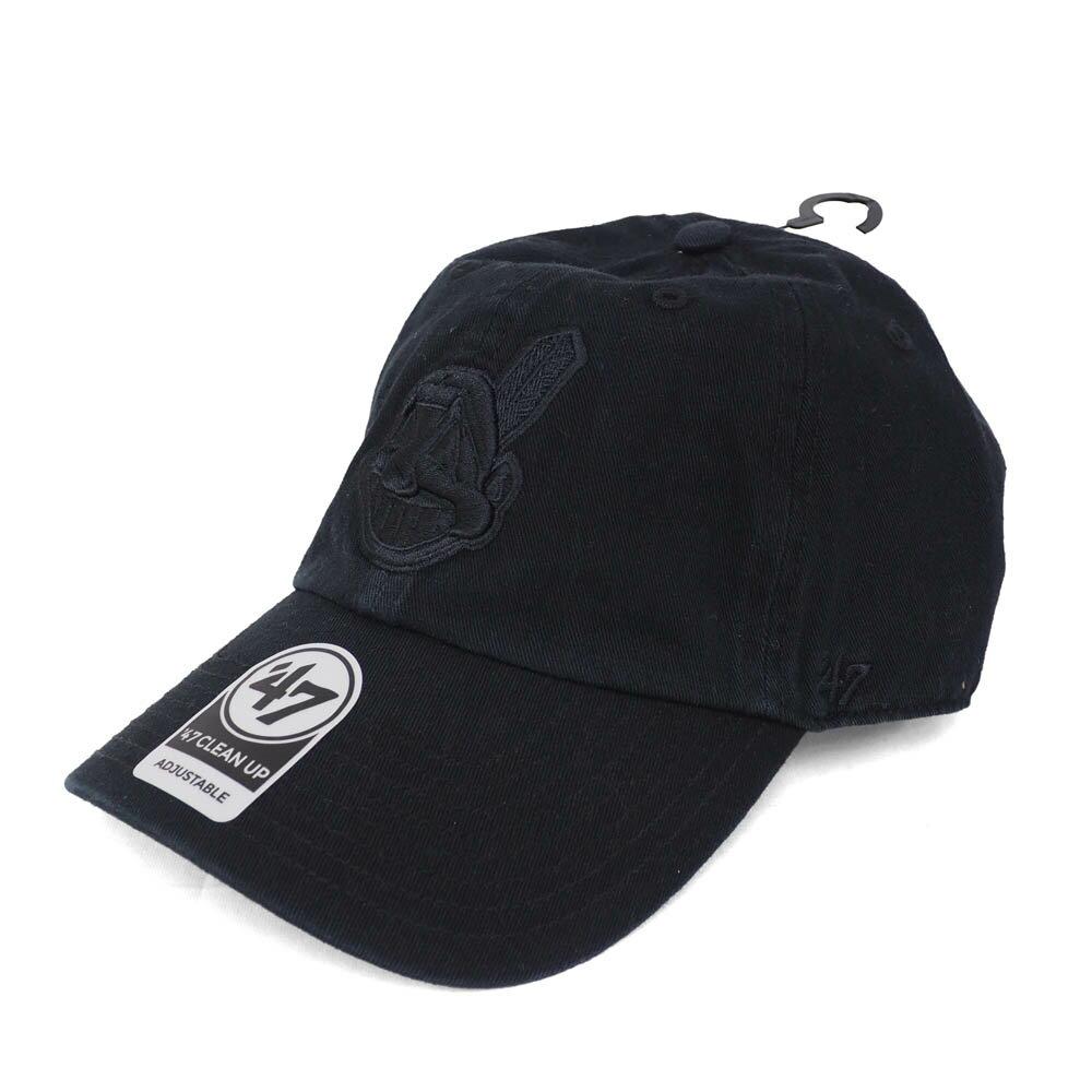 MLB インディアンス クリーンナップ キャップ/帽子 47ブランド/47Brand ブラック【0702価格変更)】