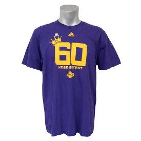 NBA Tシャツ レイカーズ コービー・ブライアント 半袖 クラウン 60 ポイント アディダス/Adidas パープル