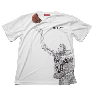 SLAM DUNK/ slam dunk T-shirt short sleeves sports T elevated passageway leading to the stage /REBOUND white