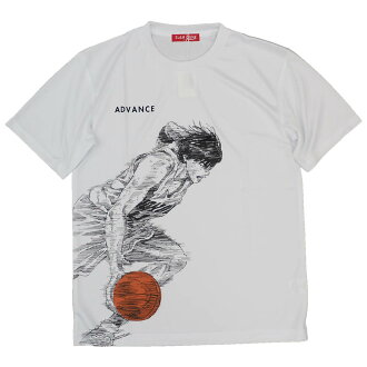 SLAM DUNK/ slam dunk T-shirt short sleeves sports T Nagarekawa /ADVANCE white