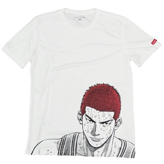 SLAM DUNK/ slam dunk T-shirt short sleeves sports T slim elevated passageway leading to the stage white