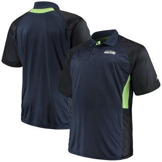 NFL海鳥開領短袖襯衫短袖遊戲日俱樂部Majestic深藍