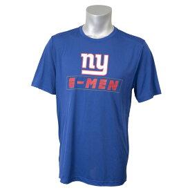 NFL ジャイアンツ Tシャツ 半袖 エッジ ラッシュ Majestic ブルー【OCSL】