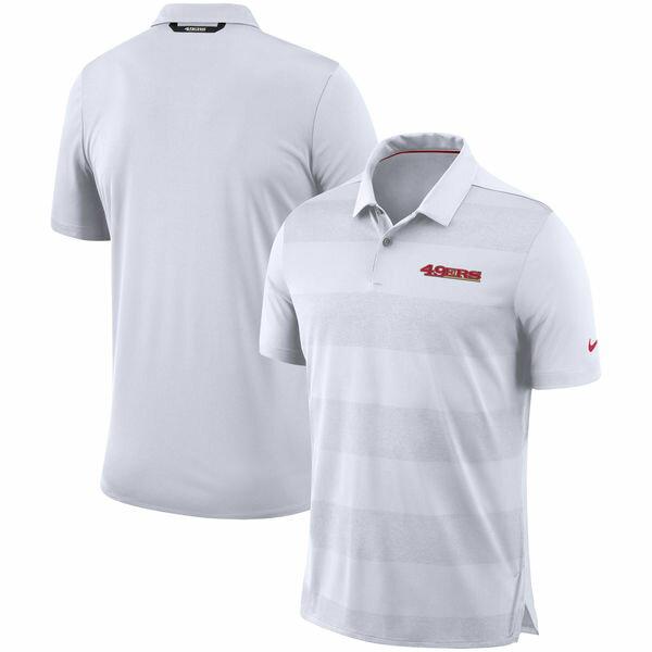 NFL 49ers サイドライン ポロシャツ ナイキ/Nike ホワイト