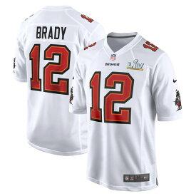 NFL ユニフォーム トム・ブレイディ バッカニアーズ ナイキ Nike ホワイト 第55回スーパーボウル記念 ゲームファッションジャージ SB55
