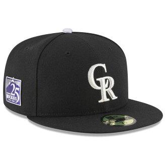 有MLB落基隊蓋子/帽子25周年紀念補丁的開場新埃拉/New Era