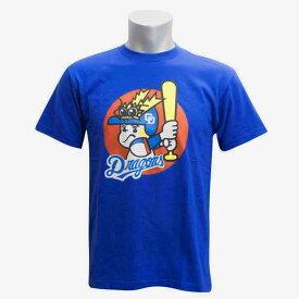 中日ドラゴンズ グッズ ドラ坊や Tシャツ ブルー