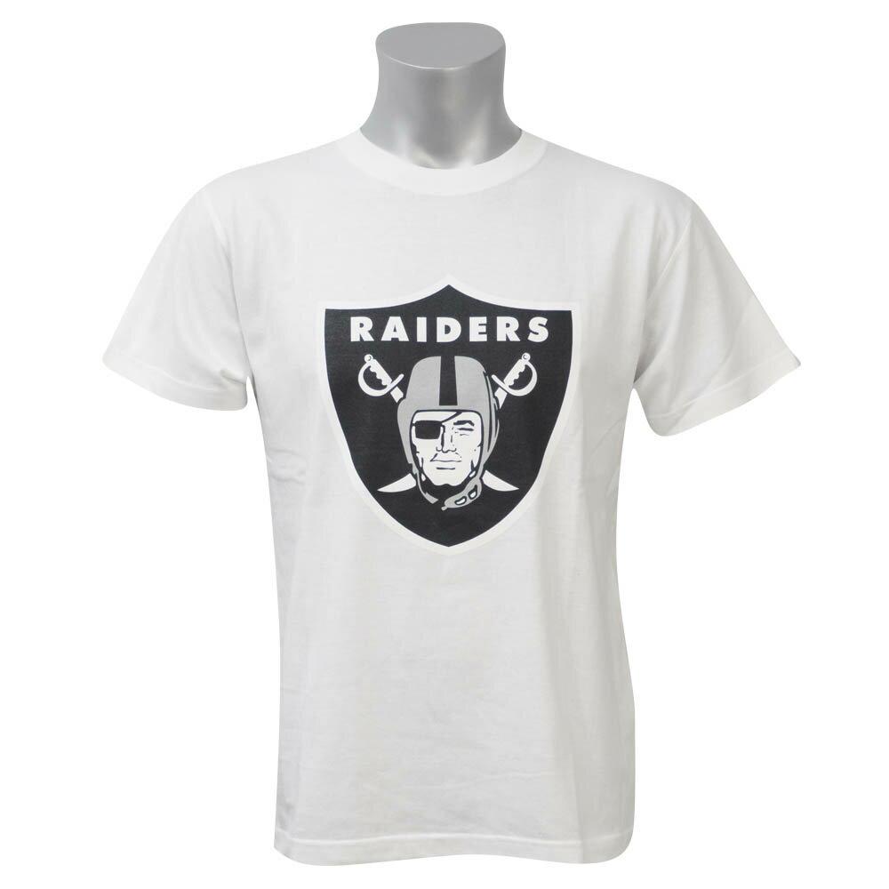 NFL レイダース Tシャツ 半袖 ベーシック チームロゴ ホワイト