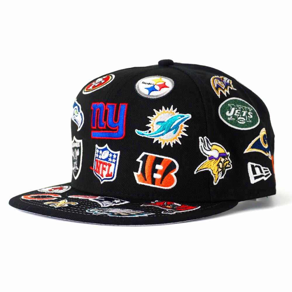 NFL キャップ/帽子 オール チームロゴ ニューエラ/New Era ブラック