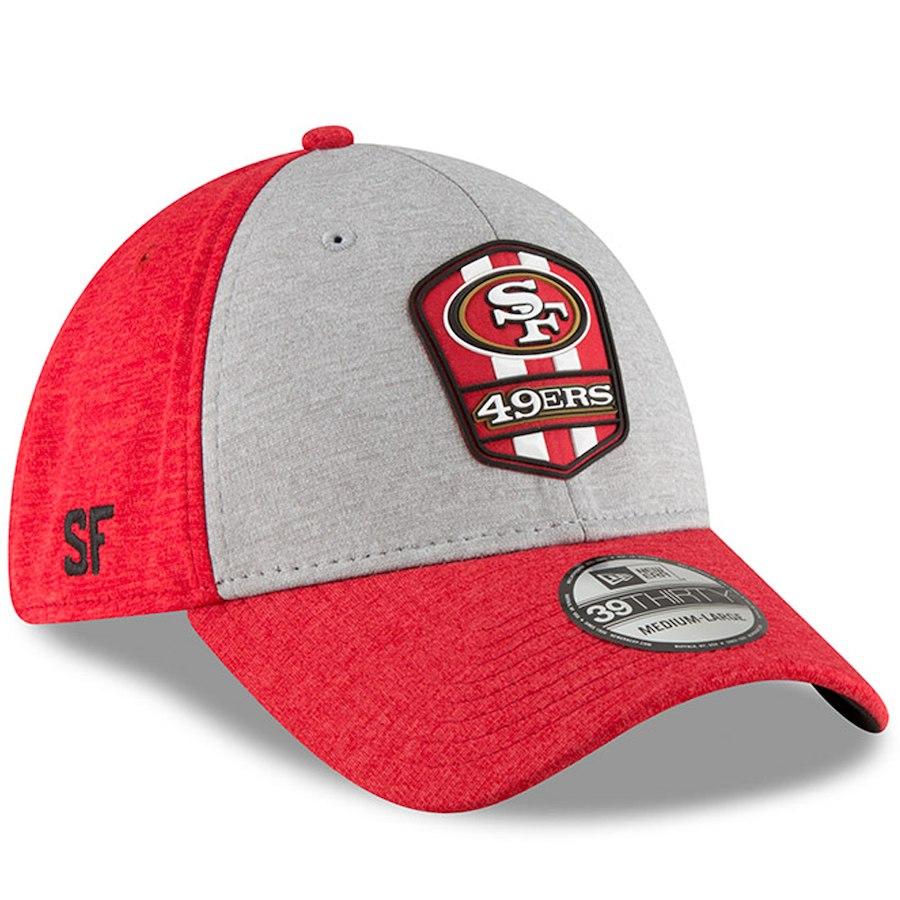 NFL 49ers キャップ/帽子 39THIRTY 2018 選手着用 サイドライン ロード ニューエラ/New Era ヘザーグレー