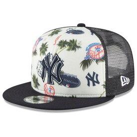 MLB ヤンキース キャップ/帽子 アロハ トラッカー メッシュ ニューエラ/New Era ネイビー