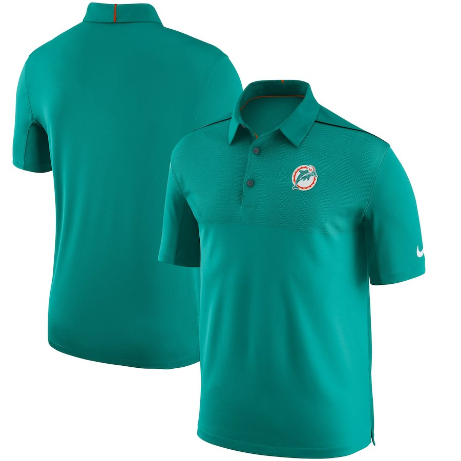 お取り寄せ NFL ドルフィンズ ポロシャツ サイドライン オルタネートロゴ ナイキ/Nike
