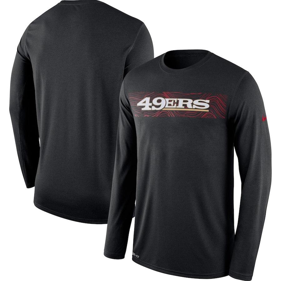 お取り寄せ NFL 49ers Tシャツ ロング/長袖 サイドライン レジェンド ナイキ/Nike
